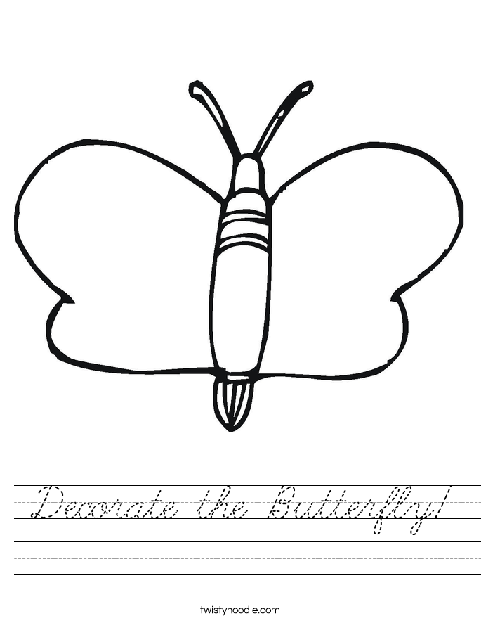 Decorate the Butterfly! Worksheet