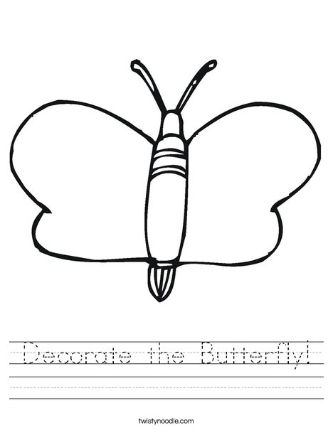 Mariposa Worksheet
