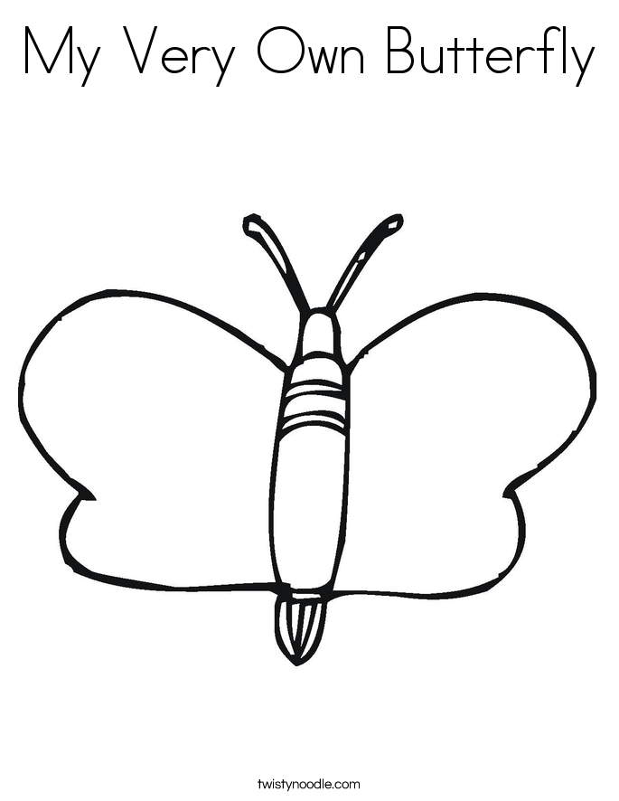 My Very Own Butterfly Coloring Page