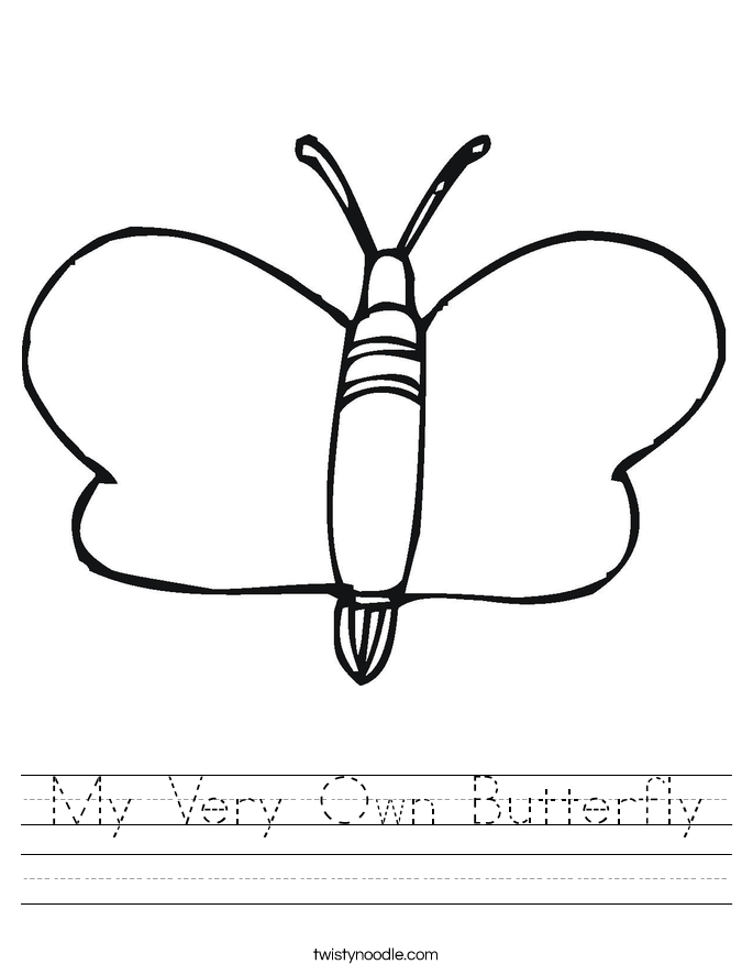 My Very Own Butterfly Worksheet