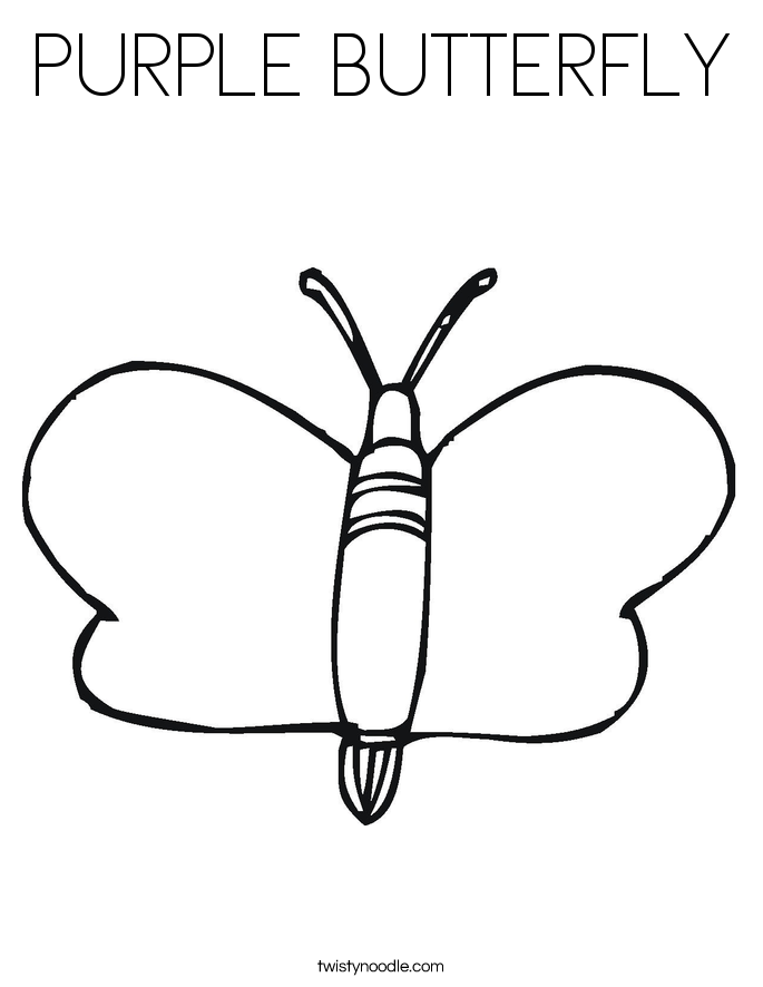 PURPLE BUTTERFLY Coloring Page