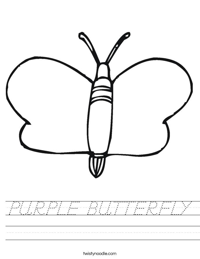 PURPLE BUTTERFLY Worksheet