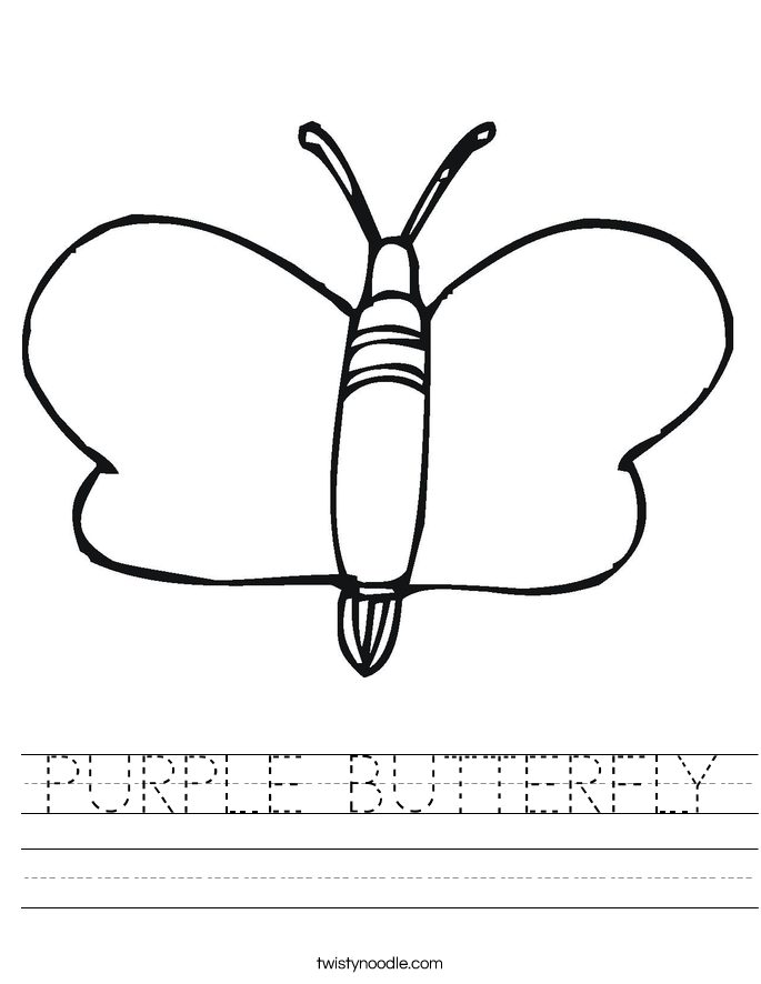 PURPLE BUTTERFLY Worksheet