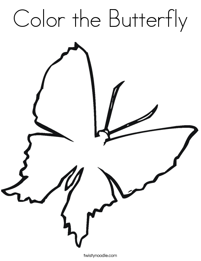 Color the Butterfly Coloring Page - Twisty Noodle