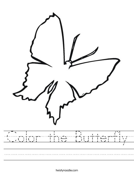 Blank Butterfly Worksheet