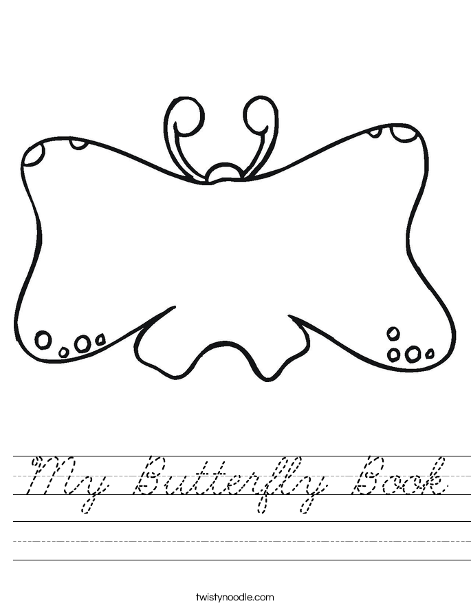 My Butterfly Book Worksheet