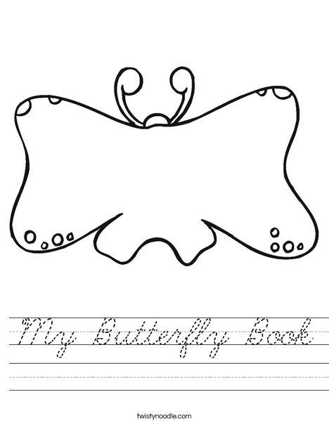 Butterfly Book Worksheet