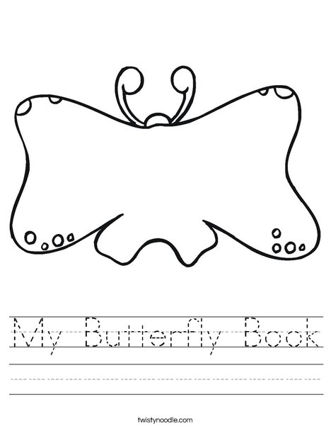 Butterfly Book Worksheet