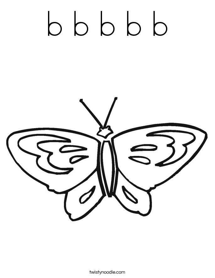b b b b b Coloring Page
