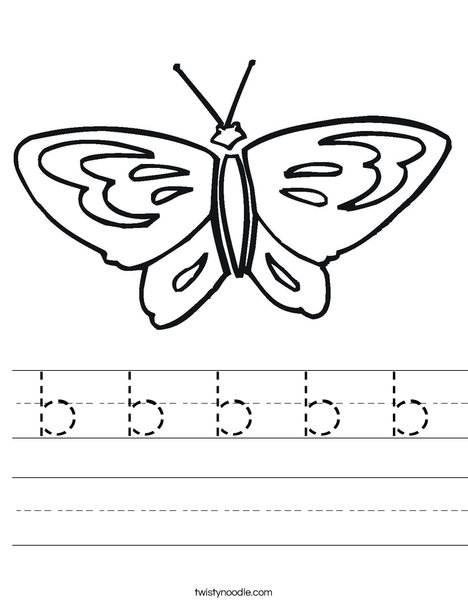 Butterfly starts with B Worksheet