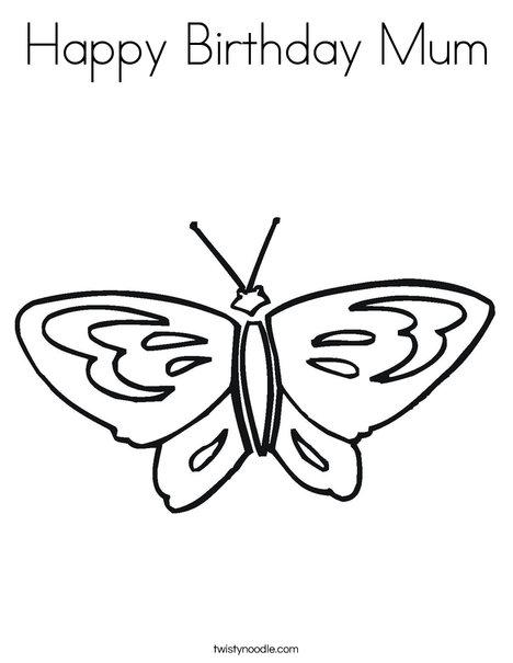 Butterfly starts with B Coloring Page