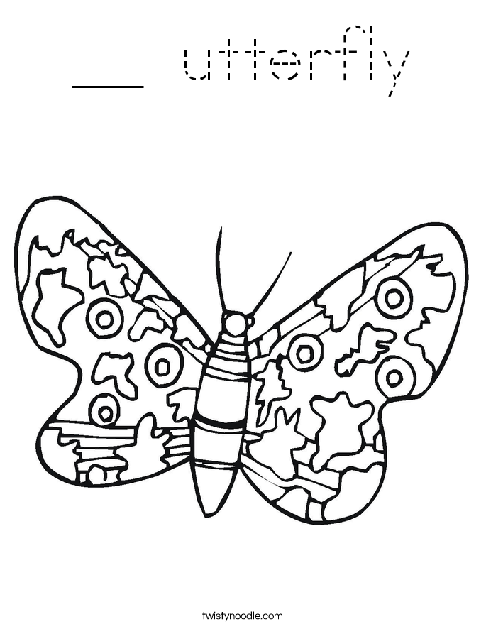 __ utterfly Coloring Page