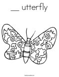 __ utterflyColoring Page