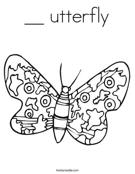Colorful Butterfly Coloring Page