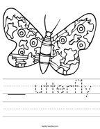 __ utterfly Handwriting Sheet