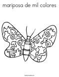 mariposa de mil coloresColoring Page