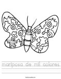mariposa de mil colores Worksheet