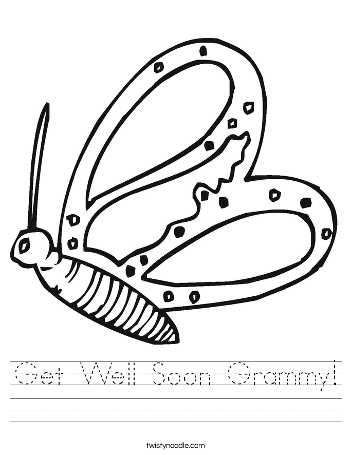 Get Well Soon Grammy! Worksheet