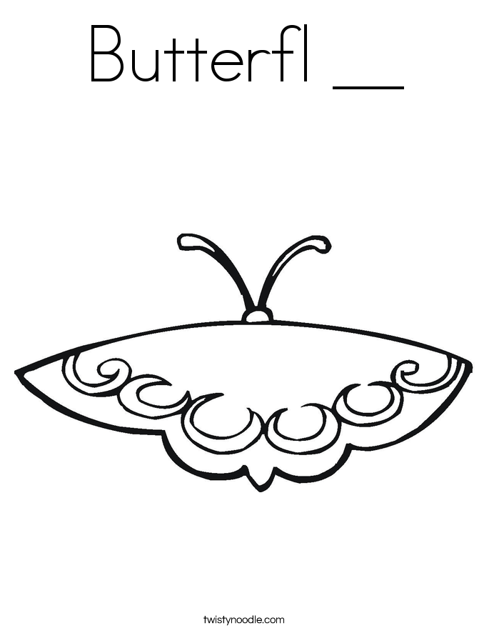 Butterfl __ Coloring Page