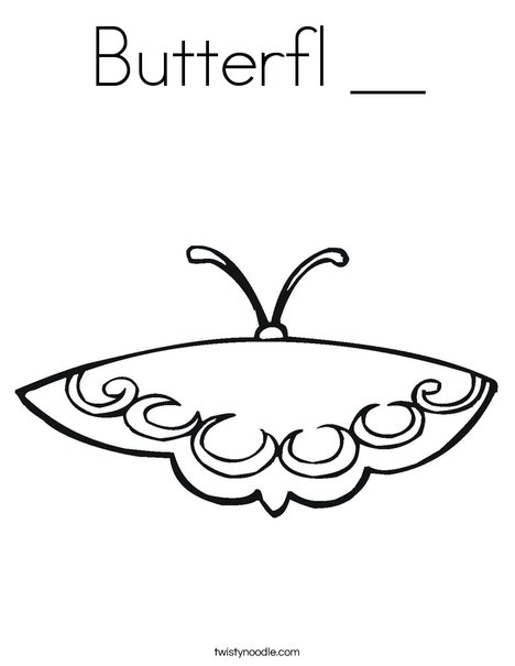Pink Butterfly Coloring Page