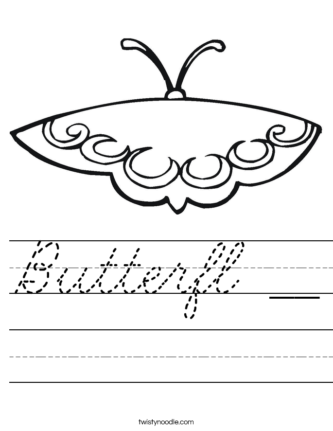 Butterfl __ Worksheet