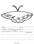 Butterfl __ Handwriting Sheet