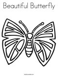 Beautiful ButterflyColoring Page