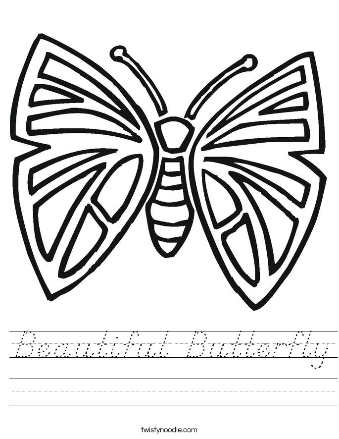 Beautiful Butterfly Worksheet