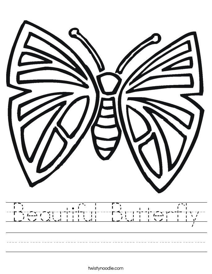 Beautiful Butterfly Worksheet