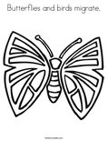 Butterflies and birds migrate.Coloring Page