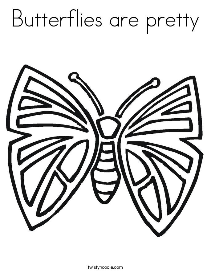 Butterflies are pretty Coloring Page
