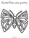 Butterflies are prettyColoring Page
