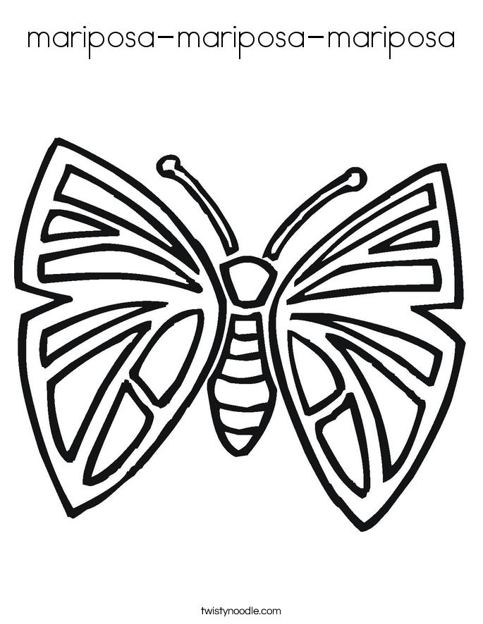 mariposa-mariposa-mariposa Coloring Page