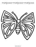 mariposa-mariposa-mariposaColoring Page