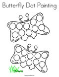 Butterfly Dot Painting Coloring Page