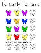 Butterfly Patterns Coloring Page