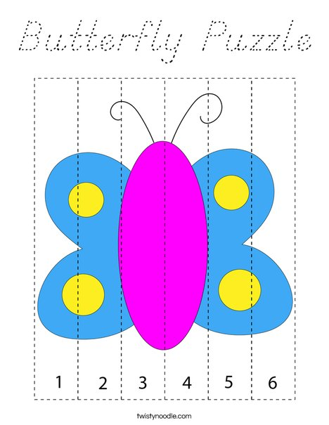 Butterfly Puzzle Coloring Page