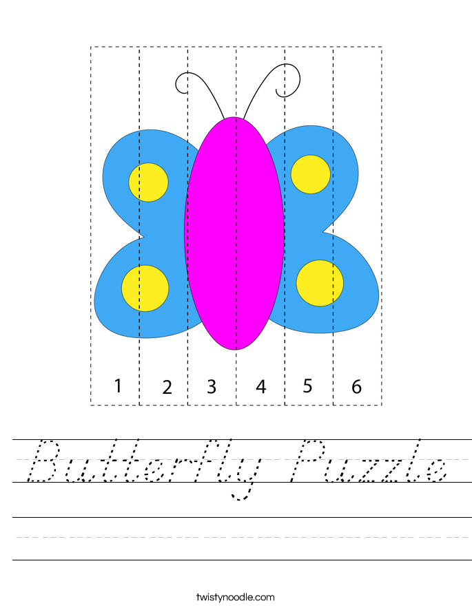 Butterfly Puzzle Worksheet