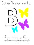 Butterfly starts with...  Coloring Page