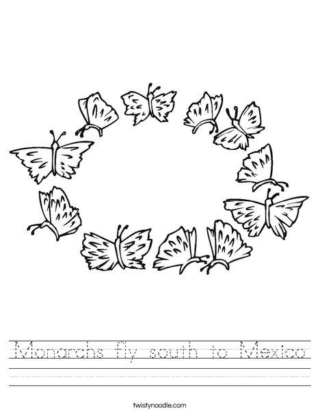 Butterfly Wreath Worksheet