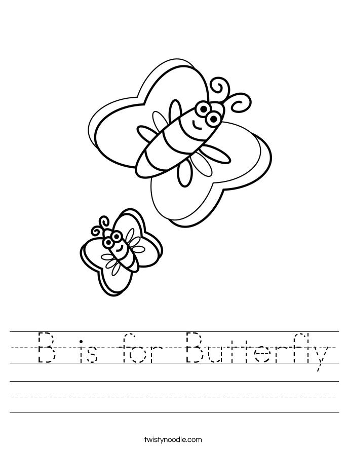 Is for butterfly worksheet twisty noodle