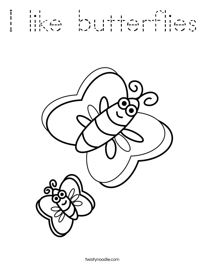 I like butterflies Coloring Page