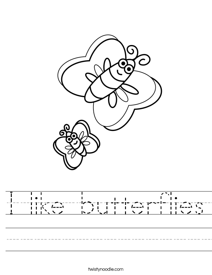 I like butterflies Worksheet