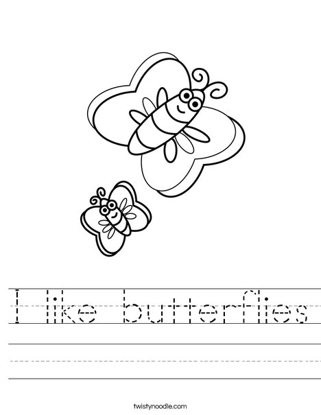 Butterflies Worksheet