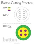 Button Cutting Practice Coloring Page
