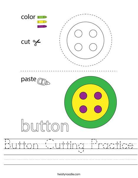 Button Cutting Practice Worksheet