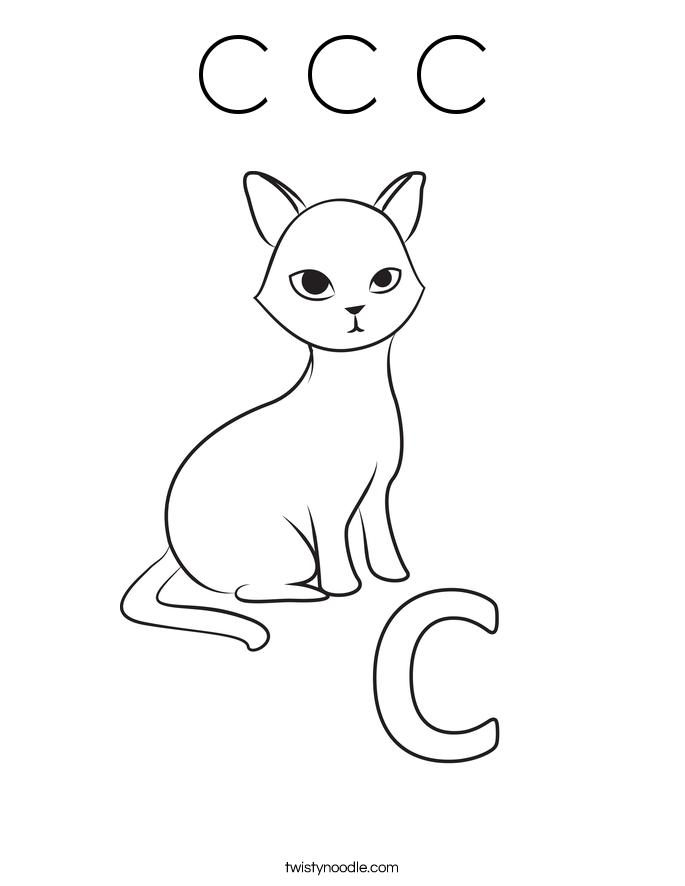 C C C Coloring Page