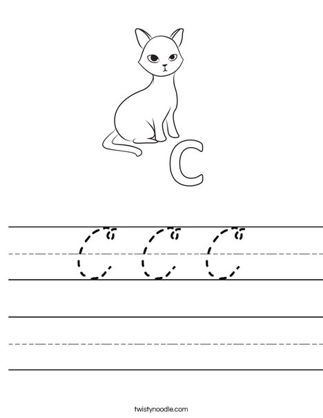 C Cat Worksheet