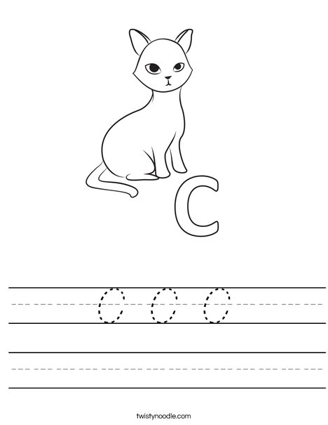 C Cat Worksheet