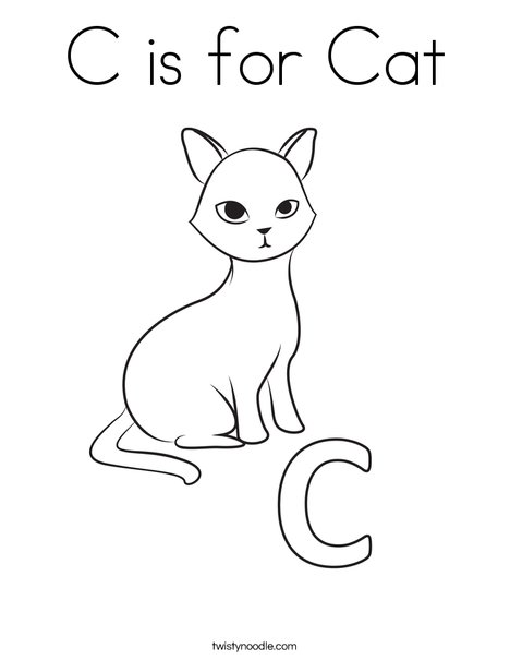 C is for cat free colouring pages for C is for cat coloring page